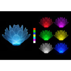 3D LED lampa - Lotosový květ