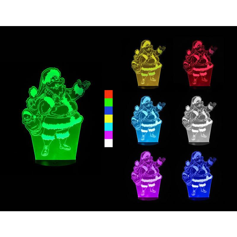 3D LED lampa – Santa Claus