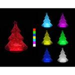 3D LED lampa – Vánoční stromek