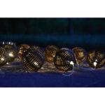 10 LED solární osvětlení – rattan koule